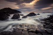 Huge waves attack the Giants Causeway on the north coast of Ireland making for a demanding seascape photo shoot