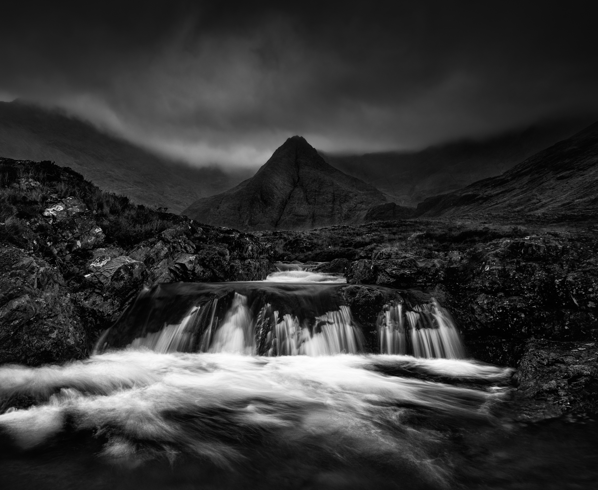 Fairy pools waterfall Isle of Skye scotland